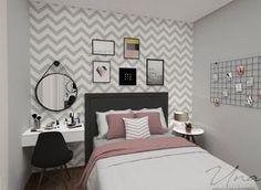 Pin by Sydney on New room ideas in 2019 Room Ideas Bedroom, Small Room Bedroom, My Room, Girl Room, Bedroom Decor, Small Rooms, Decor Room, Trendy Bedroom, Spa Bedroom