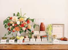 Bloody Mary Bar  {Southern Weddings V6: Preserving the Good Stuff - Southern Weddings Magazine}
