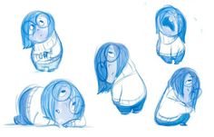 "Concept art of Sadness from Disney Pixar's ""Inside Out"" (2015)"