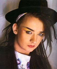 Boy George from Culture Club in the 80s