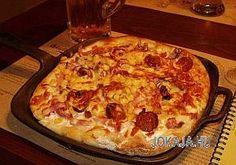 kenyerlangos-gazdagon1a Hawaiian Pizza, Quiche, Mashed Potatoes, Macaroni And Cheese, Breakfast, Ethnic Recipes, Food, Hungarian Recipes, Whipped Potatoes