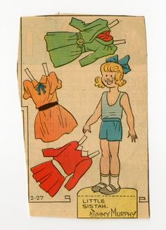 78.2405: Little Sistah | paper doll | Paper Dolls | Dolls | National Museum of Play Online Collections | The Strong