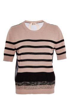Mirta round neck knit by NO. 21 Now Available on Moda Operandi