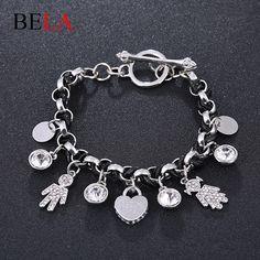 New handmade bracelet Leather bracelet Pulseras woman bracelets 2015 heart pendant People Charms bracelets for girls WS4116