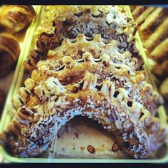 Maple Street Patisserie in New Orleans, LA; where Ziggy makes the best french pastries this side of Paris. French Pastries, Ciabatta, New Orleans, Waffles, Paris, Street, Breakfast, Desserts, Waffle