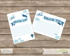 "Vintage Planes Thank you cards- First Birthday ""How time flies"" digital DIY printable thank you cards by heartFELTbyKyah on Etsy"