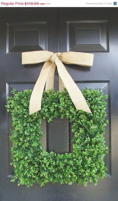 Perfect Burlap Boxwood Wreath Outdoor Wedding Wreath By ElegantWreath, $99.00