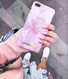 Pilion Pink Marble by laurakalynych - Fashion case phone cases iphone  inspiration iDeal of Sweden 48fed6274591c
