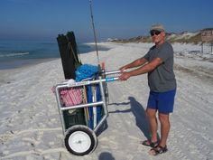 That Salty Mike. He is always up to something.  A beach cart that will navigate stairs on the boardwalks.