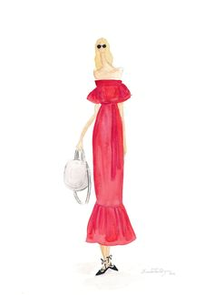 LittleBlondeSalad Watercolor Fashion Illustration