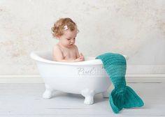 PDF pattern for a mermaid tail photo prop (sizes newborn, 3m, 6m, 12m) - cute!!