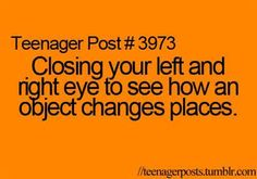 For some reason, I thought I was the only one who did this...
