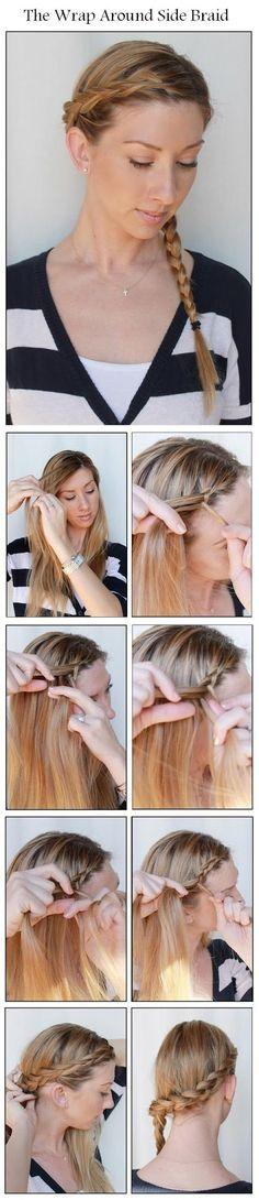 The Wrap Around Side Braid | hairstyles tutorial