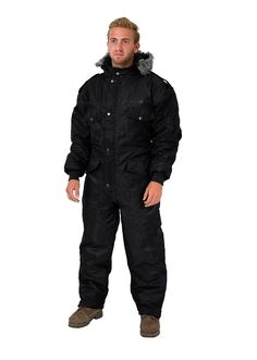 Black IDF Snowsuit Winter Clothing Snow Ski Suit Coverall Insulated Suit (XL)