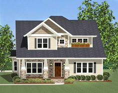 Flexible Craftsman With Laundry Chute - 46228LA | 1st Floor Master Suite, Bonus Room, Butler Walk-in Pantry, CAD Available, Corner Lot, Craftsman, Den-Office-Library-Study, Narrow Lot, Northwest, PDF | Architectural Designs