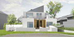 Dvojdom Becko   Architektonickým návrhom dvojdomu sa ušetrilo na cene pozemku, keďže z jednej strany u obidvoch domov sa nemusel riešiť minimálny odstup domu od hranice pozemku. Klienti tiež ušetrili investície na oknách a zateplení (viď. spoločná stena).