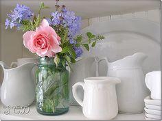 I love the white pitchers.