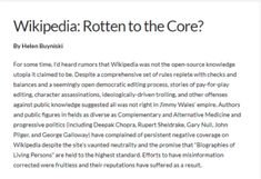 The OTHER great library - Wikipedia: Rotten to the Core? Rotten To The Core, Public Knowledge, Read More, Let It Be