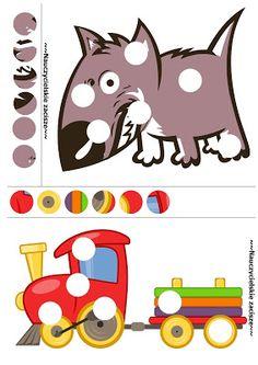Obrazki z lukami Przedszkole Pictures with holes for kids to print for free