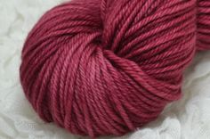 Cranberry Semi Solid in Tor Worsted Merino Superwash.