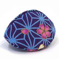 貝のジュエリーケース 麻の葉さくら 青