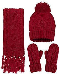 Winter Hat Glove Socks Gift Set Merino Wool Christmas Set Mens