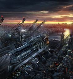concept ships: Omega Nova by Vadim Motov Spaceship Art, Spaceship Concept, Concept Ships, Futuristic City, Futuristic Architecture, Objet Star Wars, Sci Fi City, Gato Anime, Cities