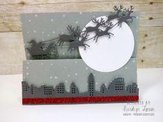 Card by Karolyn Loncon (111113) [Impression Obsession Santa; My Favorite Things Die-Namics Skyline Border]