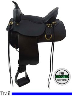 "PRICE REDUCED! 16"" High Horse Wide Trail Saddle 6852, Floor Model ushh3407 *Free Shipping*"