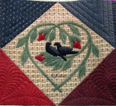 One of the blocks in this beautiful quilt by Moda/Primitive Gatherings.  Love it!