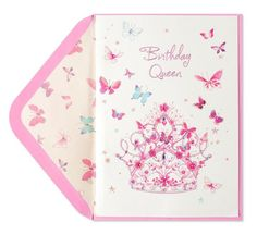 Birthday Queen Papyrus Card Butterfly Cards Greeting Greetings Happy