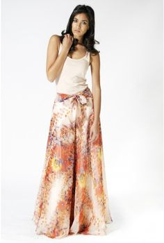 Opulence Pansy Print Palazzo Pants - Trousers and Leggings - Clothing
