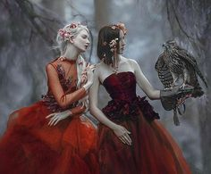 My fantasy image with hawk🌿 and two beautiful models❤️ & Joanna from Dresses from 🌿 fairytale Dreamy Photography, Fantasy Photography, Artistic Photography, Foto Fantasy, Fantasy Art, Maria Amanda, Spirit Art, Enchanted Wood, Dark Fairytale