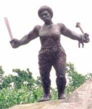 Carlota: A enslaved African woman, took up the machete in 1843 to lead a slave uprising at the Triumvirato sugar mill in the Matanzas province of Cuba and was killed. She was one of the three leaders of the rebellion. Her name was later given to Cuba's Operación Carlota in Southern Africa in the mid-1980s, culminating in the famous battle of Cuito Cuanavale and the decisive defeat of the racist South African armed forces.