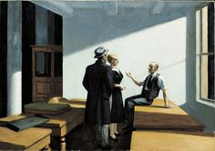 Edward Hopper Conference at Night | 1949. Oil on canvas. 71,8 x 102,4 cm. Wichita Art Museum, Wichita.