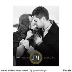 Chic Modern Photo Save the Date Magnet - wedding invitations diy cyo special idea personalize card Save The Date Photos, Save The Date Postcards, Save The Date Cards, Photo Wedding Invitations, Wedding Cards, Wedding Gifts, Save The Date Magnets, Invitation Card Design, Wedding Save The Dates