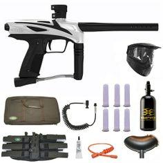 GOG eNMEy Paintball Marker Gun 3Skull N2 Sniper Set - Rally White. Available at Ultimate Paintball!  http://www.ultimatepaintball.com/p-10116-gog-enmey-paintball-marker-gun-3skull-n2-sniper-set-rally-white.aspx