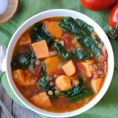 Vegan Sweet Potato and Lentil Soup