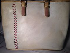 Baseball couture handbag  on Etsy, $75.00