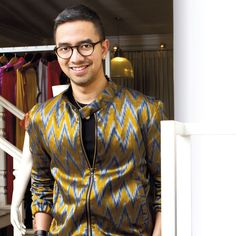 """""""My mission is to promote the beauty  and richness of Ikat material,"""" says the founder of IKAT Indonesia, Didiet Maulana. Check out the story behind the man's dedication and determination in distinguishing the cultural heritage's beauty in page 58"""