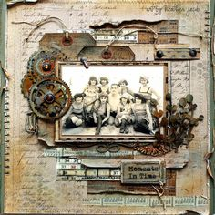 art and life: grungy scrapbook layout, vintage