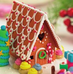 Polymer clay Gingerbread house                                                                                                                                                                                 Mehr
