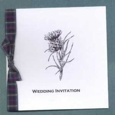 simple but nice.cud put sarahs tartan pattern on side. Scottish Wedding Themes, Scottish Wedding Traditions, Scottish Weddings, Pocket Wedding Invitations, Handmade Invitations, Wedding Stationery, Invites, Gretna Green Wedding, Wedding Cards