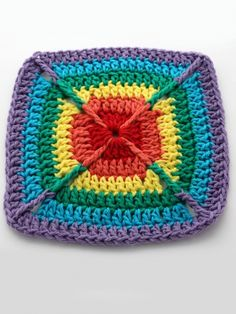 Free Pattern: Over the Rainbow Dishcloth