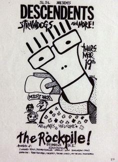 Old punk flyer