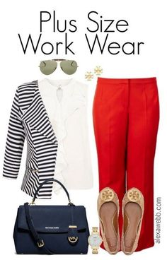 Plus Size Work Wear - Plus Size Fashion for Women - Plus Size Work Outfit #alexawebb #plus #size