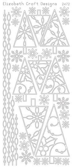Christmas Trees II (sku 2472) from ElizabethCraftDesigns.com