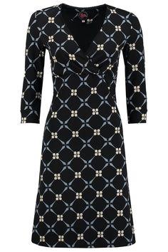 Crossover Dress Royal Black -Tante Betsy.com