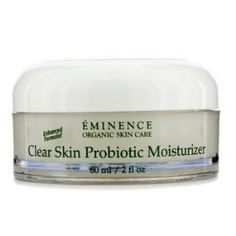 Eminence Clear Skin Probiotic Moisturizer (Acne Porne Skin) - 60ml/2oz by Eminence - Night Care. $51.65. 60ml/2oz. A clarifying moisturizer for acne-prone skin Contains Cucumber Juice to tone & purify skin while shrinking pores Blended with Yogurt for exfoliating & nourishing benefits Loaded with Tea Tree Oil to detoxify skin & balance sebum production Plus an antioxidant Calendula Oil & an emollient Shea Butter to replenish moisture barrier Reveals a clearer, calmer, softer...