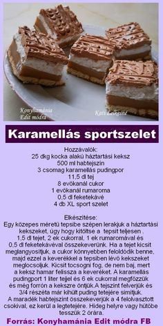 Hungarian Desserts, Hungarian Recipes, Cookie Recipes, Dessert Recipes, Smoothie Fruit, Speed Foods, Tasty, Yummy Food, No Bake Cake